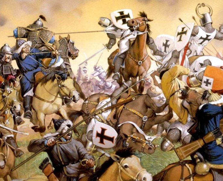 Was there much contact between the Crusader states and the Mongol empire?