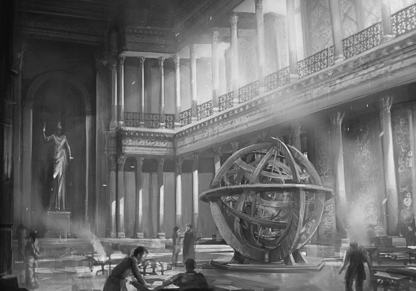 Who had access to the Library of Alexandria?